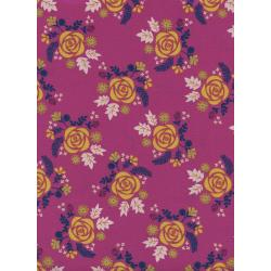 R1972-001 Akoma - Wildflower - Fuschia Fabric