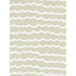 R1948-003 Kujira & Star - Waves - Sand Dollar Unbleached Cotton White Pigment Fabric