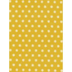 R1952-002 Kujira & Star - Sea Urchin - Sunshine Unbleached Cotton Fabric