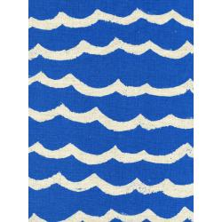 R1953-022 Kujira & Star - Waves - Blue Sea Canvas Fabric