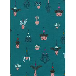 R1928-002 Macrame - Hang It Up - Teal Fabric