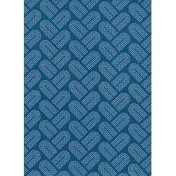 R1934-002 Macrame - Braidy - Teal Fabric