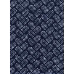 R1934-004 Macrame - Braidy - Navy Fabric