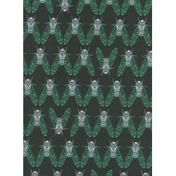 R1937-002 Raindrop - Cicada Song - Forest Fabric