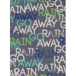 R1938-002 Raindrop - Rain Go Away - Storm Unbleached Cotton Fabric