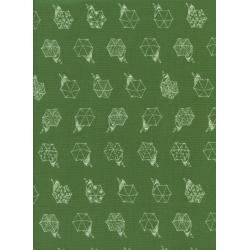 R1942-002 Raindrop - Rainwalk - Spearmint Fabric