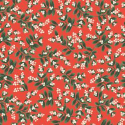 RP601-RE2M Holiday Classics - Mistletoe - Red Metallic Fabric