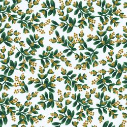 RP601-WH3M Holiday Classics - Mistletoe - White Metallic Fabric