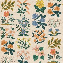 RP202-NA4C Meadow - Wildflower Field - Natural Canvas Fabric