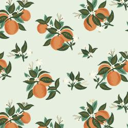 RP301-OR2R Primavera - Citrus Blossom - Orange Rayon Fabric