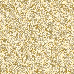 RP500-GO5M Rifle Paper Co. Basics - Tapestry Lace - Gold Metallic Fabric