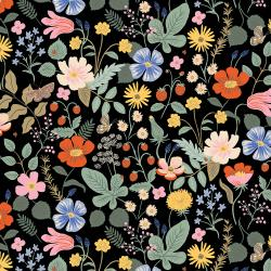 RP400-BK1 Strawberry Fields - Strawberry Fields - Black Fabric