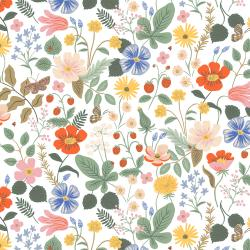 RP400-IV7R Strawberry Fields - Strawberry Fields - Ivory Rayon Fabric