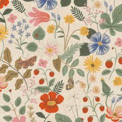 RP400-LI9UC Strawberry Fields - Strawberry Fields - Linen Unbleached Canvas Fabric