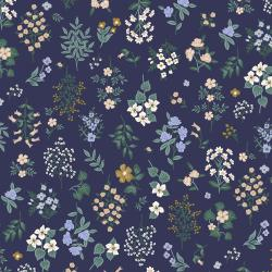 RP401-NA2 Strawberry Fields - Hawthorne - Navy Fabric