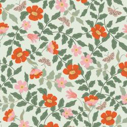RP402-MI4R Strawberry Fields - Primrose - Mint Rayon Fabric