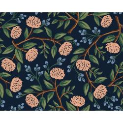 RP102-BL4C Wildwood - Peonies - Blue Canvas Fabric