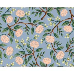 RP102-DU3 Wildwood - Peonies - Dusty Blue Fabric