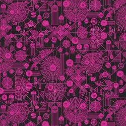 RH103-NP4NP Across The Universe - Web Attack - Neon Pink Neon Pigment Fabric