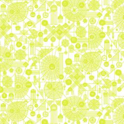 RH103-NY2NP Across The Universe - Web Attack - Neon Yellow Neon Pigment Fabric