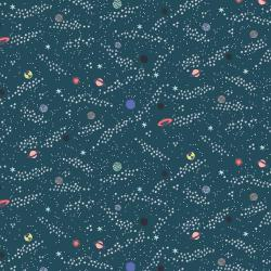 RH105-TE3 Across The Universe - Rogue Planets - Teal Fabric