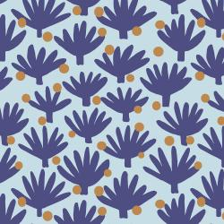 SA100-BH3 Find Me In Ibiza - Flamenco - Blue Haze Fabric