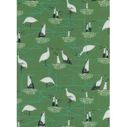 S2034-002 From Porto With Love - Stork Nest - Green Fabric