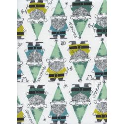 S2069-001 Front Yard - Gnomes - Green Fabric