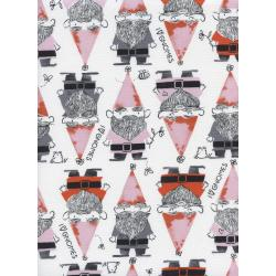 S2069-002 Front Yard - Gnomes - Red Fabric