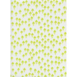 S2073-001 Front Yard - Clovers - Yellow Fabric