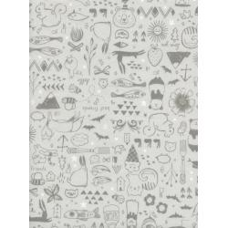 S2043-001 Sleep Tight - Sweet Dreams - Neutral White Pigment Fabric