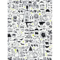 S2043-002 Sleep Tight - Sweet Dreams - White Fabric