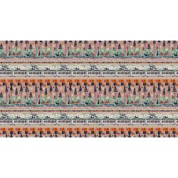 S2015-012 Tokyo Trainride - Train Ride - Dusty Pink Canvas Fabric