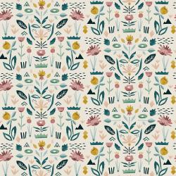ST104-SE2 In Bloom - Floral Garden - Seafoam Fabric