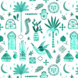 TG100-AS3 Marbella - Moroccan Nights - Alboran Sea Fabric
