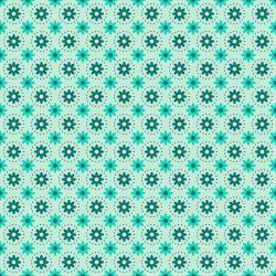 TB103-MI2 From the Desk of... - Daisies in Circles - Mint Fabric