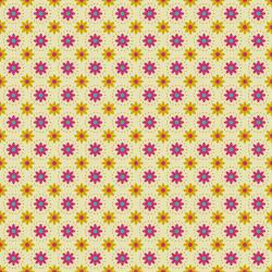 TB103-YE4 From the Desk of... - Daisies in Circles - Yellow Fabric