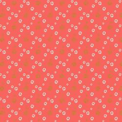 VB104-WA2M Mountains, Rocks, and Pebbles - River Pebbles - Watermelon Metallic Fabric