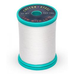 753-1002 Soft White 50 Wt. Cotton Thread Spool