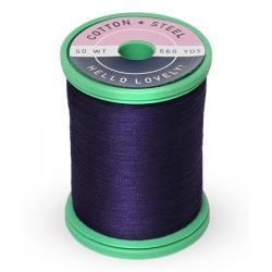 753-1197 Medium Navy 50 Wt. Cotton Thread Spool