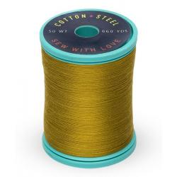 753-1245 Dk. Gold Green 50 Wt. Cotton Thread Spool