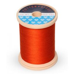 753-1246 Orange Flame 50 Wt. Cotton Thread Spool