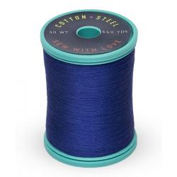 753-1293 Deep Nassau Blue 50 Wt. Cotton Thread Spool