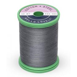 753-1329 Dark Nickel Gray 50 Wt. Cotton Thread Spool