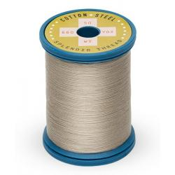 753-1366 Greige 50 Wt. Cotton Thread Spool