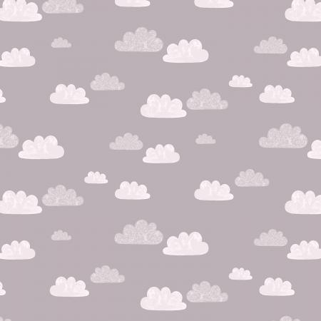 AE204-GY2 Summer Skies - Summer Clouds - Gray Fabric 1