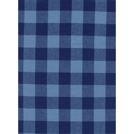 "C5090-002 Checkers - 1"" Gingham - Navy Fabric"