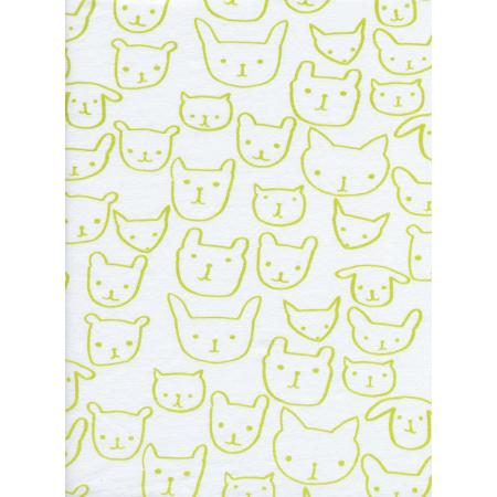 C5150-027 Hello - Hello - Citron Knit Fabric
