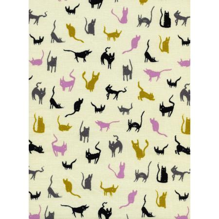 C5008-002 Spellbound - Moon Cat - Ivory Fabric