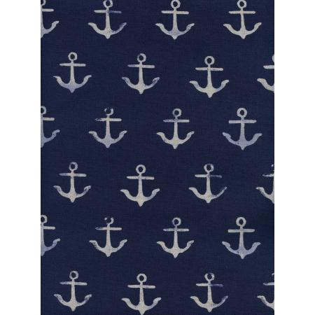 C5104-012 S.S. Bluebird - Melody - Anchor - Navy Canvas Fabric